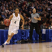 Moriah Jefferson, UConn, in action during the UConn Vs Cincinnati Quarterfinal Basketball game at the American Women's College Basketball Championships 2015 at Mohegan Sun Arena, Uncasville, Connecticut, USA. 7th March 2015. Photo Tim Clayton