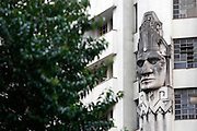 Belo Horizonte_MG, Brasil.<br /> <br /> Detalhes do edificio Acaiaca no centro de Belo Horizonte, Minas Gerais. Possui duas faces de indios na fachada, esculpidas pelo engenheiro Luiz Pinto Coelho. <br /> <br /> Acaiaca building detail in Belo Horizonte downtown, Minas Gerais.<br /> <br /> Foto: MARCUS DESIMONI / NITRO