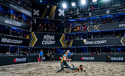 "Agatha Bednarczuk BRA, Eduarda Santos Lisboa ""Duda"" BRAin action during the last day of the beach volleyball event King of the Court at Jaarbeursplein on September 12, 2020 in Utrecht."