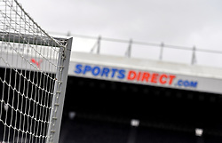 Goalposts and Sports Direct branding at St James' Park