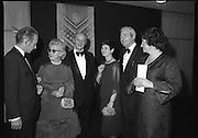 Bank of Ireland GAA Allstars.    (N5)..1979..07.12.1979..12.07.1979..7th December 1979..The 1979 Bank of Ireland GAA Allstars received their trophies from An Taoiseach, Mr Jack Lynch TD,at a banquet in Jury's Hotel,Dublin..Pictured at the B.O.I. GAA Allstar awards were Mr Frank O'Rourke,General Manager,Bank of Ireland,mrs Kathleen McFlynn,An Taoiseach Mr Jack Lynch, Mrs Mairin Lynch,Mr Paddy Flynn, President,GAA and Mrs R O'Rourke.