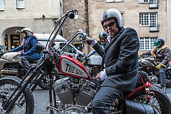Over a hundred bikers took to the streets of Edinburgh in The Distinguished Gentleman's Ride, a worldwide charity event raising funds and awareness for mens health, specifically prostate cancer research and suicide prevention.