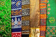 Colourful pashmina scarfs, New Delhi, India