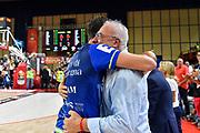 Giacomo Devecchi, Giuseppe Cuccurese<br /> Banco di Sardegna Dinamo Sassari - Umana Reyer Venezia<br /> Finale Zurich Connect Supercoppa LBA 2019<br /> Bari, 22/09/2019<br /> Foto L.Canu / Ciamillo-Castoria
