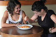 two friends eat spaghetti model released