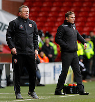 Sheffield United manager Chris Wilder looks on from the touchline<br /> <br /> Photographer David Shipman/CameraSport<br /> <br /> The EFL Sky Bet League One - Sheffield United v Bolton Wanderers - Saturday 25th February 2017 - Bramall Lane - Sheffield<br /> <br /> World Copyright © 2017 CameraSport. All rights reserved. 43 Linden Ave. Countesthorpe. Leicester. England. LE8 5PG - Tel: +44 (0) 116 277 4147 - admin@camerasport.com - www.camerasport.com