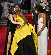 Tuesday 28 September 2021<br />Bond: No Time To Die - world film. premiere <br />The Royal Albert Hall.<br />Ana De Armas and  Lashana lynch , with Naomie harris looking on