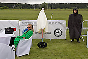 Gorky 2, Moscow Region, Russia, 01/07/2005..Spectators wrapped against cold winds at the Russian Polo Cup 2006, organised by the Russian Federation of Polo Players.
