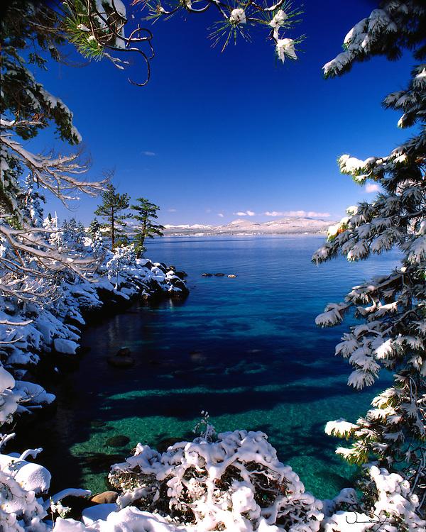 Lake Tahoe Scenic Winter Frame Lake Tahoe