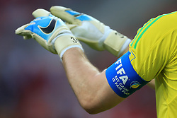 21st June 2017 - FIFA Confederations Cup (Group A) - Russia v Portugal - the FIFA captain's armband worn by Russia goalkeeper Igor Akinfeev - Photo: Simon Stacpoole / Offside.
