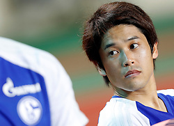 ZHUHAI, July 19, 2017  Atsuto Uchida of FC Schalke 04 looks on ahead of a pre-season soccer match between Bundesliga's FC Schalke 04 and Turkish Super League champion Besiktas JK at Zhuhai Sports Center Stadium in Zhuhai, south China's Guangdong Province, July 19, 2017. FC Schalke 04 won 3-2. (Credit Image: © Wang Lili/Xinhua via ZUMA Wire)