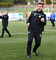 22/07/15 UEFA CHAMPIONS LEAGUE QUALIFIER 2ND LEG<br /> STJARNAN v CELTIC <br /> STJORUVOLLUR - ICELAND<br /> Celtic manager Ronny Deila celebrates at full time