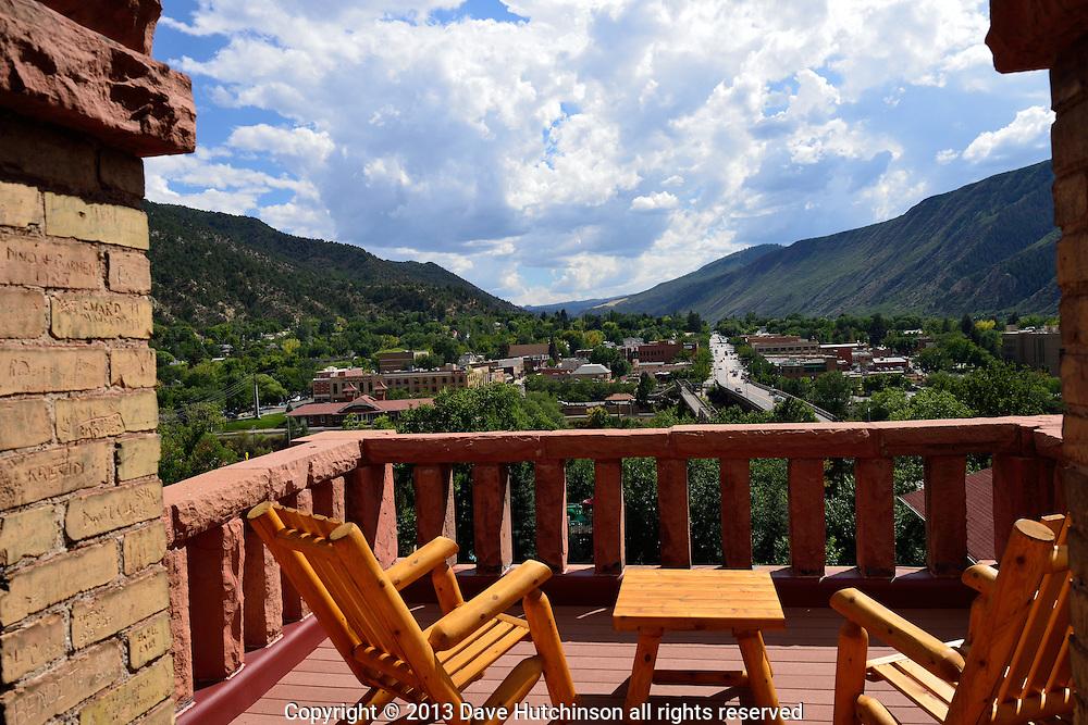 Hotel Colorado balcony, Glenwood Springs, Colorado, USA