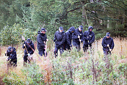 © Licensed to London News Pictures. 11/10/2016. Tintwistle UK. A murder investigation has started after a badly burnt body was found in a lay-by on the A628 Woodhead Pass near the village of Tintwistle. The body was found by a member of the public & police are working to discover if the victim was male or female. by Photo credit: Andrew McCaren/LNP