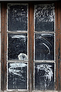 window in a abandoned house
