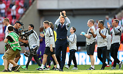 England manager Gareth Southgate (centre) reacts after the final whistle during the International Friendly match at WembleyStadium, London.