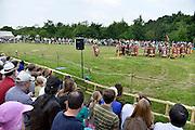Nederland, Nijmegen, 1-6-2014 Romeinse tijden herleven tijdens het Romeinenfestival, op de plek waar 2000 jaar geleden de Romeinen hun legerplaats hadden, het Kops Plateau in Nijmegen.  Het tweejaarlijkse Romeinenfestival is het grootste festival over de Romeinse tijd en archeologie in Nederland. Tijdens het festival is het terrein op het Kops Plateau open voor geschiedenisliefhebbers. De antieke tijd komt tot leven met een Romeins tentenkamp, militaire demonstraties,  gladiatorengevechten, archeologische workshops, ambachten en een Romeinse markt. Foto: Flip Franssen/Hollandse Hoogte
