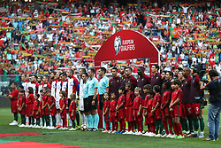 August 31, 2017 - Porto, Porto, Portugal - Portugal's and  Faroe Islands team formation during the FIFA World Cup Russia 2018 qualifier match between Portugal and Faroe Islands at Bessa Sec XXI Stadium on August 31, 2017 in Porto, Portugal. (Credit Image: © Dpi/NurPhoto via ZUMA Press)