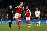 Danielle Van De Donk shoots at goal during the FA Women's Super League match between Tottenham Hotspur Women and Arsenal Women FC at Tottenham Hotspur Stadium, London, United Kingdom on 17 November 2019.