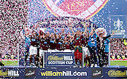 The William Hill Scottish FA Cup Final 2012 Hibernian Football Club v Heart Of Midlothian Football Club..19-05-12...Hearts Scottish Cup Winners 2012        during the William Hill Scottish FA Cup Final 2012 between (SPL) Scottish Premier League clubs Hibernian FC and Heart Of Midlothian FC. It's the first all Edinburgh Final since 1986 which Hearts won 3-1. Hearts bid to win the trophy since their last victory in 2006, and Hibs aim to win the Scottish Cup for the first time since 1902....At The Scottish National Stadium, Hampden Park, Glasgow...Picture Mark Davison/ ProLens PhotoAgency/ PLPA.Saturday 19th May 2012.