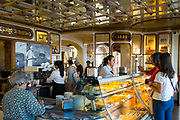 Interior of Confeitaria Nacional famous pastry shop and cafeteria in Praça da Figueira, Praça Dom Pedro IV in Lisbon, Portugal
