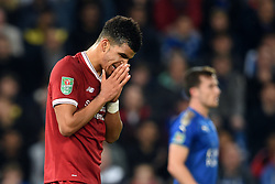 Liverpool's Dominic Solanke rues a missed chance