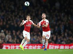 Arsenal's Lucas Torreira (left) and Arsenal's Shkodran Mustafi