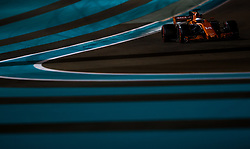 November 26, 2017 - Abu Dhabi, United Arab Emirates - Fernando Alonso of Spain and McLaren Honda Team driver goes during the race at Formula One Etihad Airways Abu Dhabi Grand Prix on Nov 26, 2017 in Yas Marina Circuit, Abu Dhabi, UAE. (Credit Image: © Robert Szaniszlo/NurPhoto via ZUMA Press)