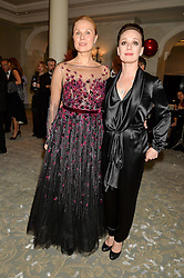 Left to right, CHULPAN KHAMATOVA and DINA KORZUN at the Gift of Life Old Russian New Year's Eve charity gala held at The Savoy Hotel, London on 13th January 2016.