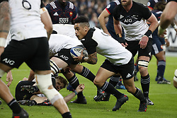New-Zealand's Aaron Smith during a rugby friendly Test match, France vs New-Zealand in Stade de France, St-Denis, France, on November 11th, 2017. France New-Zealand won 38-18. Photo by Henri Szwarc/ABACAPRESS.COM