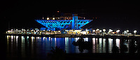 St. Petersburg Pier at Night from the Vinoy Hotel. Image taken with an Nikon D3x and 200 f/2 lens (ISO 100,  f/11, 10 sec).
