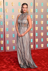 Laura Whitmore attending the 72nd British Academy Film Awards held at the Royal Albert Hall, Kensington Gore, Kensington, London attending the 72nd British Academy Film Awards held at the Royal Albert Hall, Kensington Gore, Kensington, London