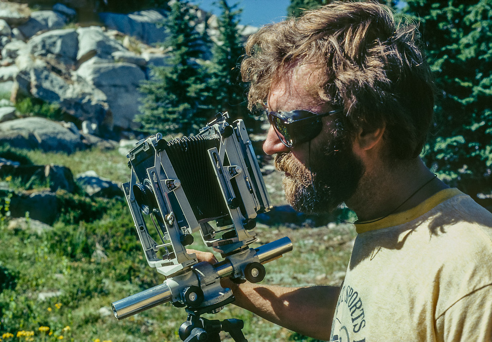 Pat O'Hara photographs in the Desolation Wilderness, California, USA 1981
