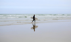 South Africa - Cape Town - 07 October 2020 - Surfer of Strand beach. Picture: Brendan Magaar/African News Agency(ANA) ANATOPIX