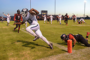 Camarillo running back Isaiah Otis runs the ball in for a touchdown against Rio Mesa during their game on Aug. 28, 2015 at Rio Mesa High School in Oxnard.