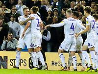 Leeds United's Liam Cooper celebrates scoring his side's second goal <br /> <br /> Photographer Alex Dodd/CameraSport<br /> <br /> The EFL Sky Bet Championship - Leeds United v Ipswich Town - Wednesday 24th October 2018 - Elland Road - Leeds<br /> <br /> World Copyright © 2018 CameraSport. All rights reserved. 43 Linden Ave. Countesthorpe. Leicester. England. LE8 5PG - Tel: +44 (0) 116 277 4147 - admin@camerasport.com - www.camerasport.com
