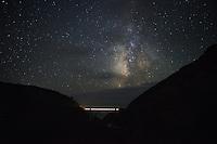 Bixby Creek Bridge and Milky Way Galaxy, Big Sur, California