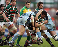 Photo: Rich Eaton.<br /> <br /> Leicester Tigers v Cardiff Blues. Heineken Cup. 13/01/2007. Martin Corry of Leicester Tigers attacks