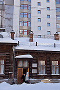 Yekaterinburg, Russia, 26/02/2007..Traditional Russian architecture and new buildings in the city centre.