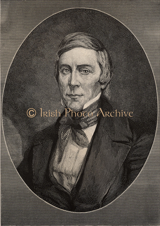 James Blythe Rogers (1802-1852), American physician and chemist, brother of the geologist Henry Darwin Rogers (1808-1866). Engraving, 1896.