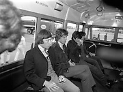 The Rolling Stones Charlie is my Darling - Ireland 1965 -..The Rolling Stones in the airport bus on route to the customs hall at Dublin Airport before thier concert at the Adelphi Theatre during their second  Irish tour of 1965. L-R Charlie Watts (drums), Mick Jagger (vocals), Keith Richards (guitar) and  Bill Wyman (bass). This was the band's second Irish tour of 1965....07/01/1965.01/07/1965.07 January 1965.  Christmas gifts of Limited Edition Prints of Charlie Watts, Mick Jagger, Keith Richards,  Bill Wyman,  The Rolling Stones, Charlie is my Darling, Ireland 1965.  <br /> Unusual giftsof Limited Edition Prints of Charlie Watts, Mick Jagger, Keith Richards,  Bill Wyman,  The Rolling Stones, Charlie is my Darling, Ireland 1965. <br /> Unique gifts of  Limited Edition Prints of Charlie Watts, Mick Jagger, Keith Richards,  Bill Wyman,  The Rolling Stones, Charlie is my Darling, Ireland 1965. <br /> Birthday gifts of Limited Edition Prints of Charlie Watts, Mick Jagger, Keith Richards,  Bill Wyman,  The Rolling Stones, Charlie is my Darling, Ireland 1965.  <br /> Gifts of Limited Edition Prints of Charlie Watts, Mick Jagger, Keith Richards,  Bill Wyman,  The Rolling Stones, Charlie is my Darling, Ireland 1965.  <br /> Gift of Limited Edition Prints of Charlie Watts, Mick Jagger, Keith Richards,  Bill Wyman,  The Rolling Stones, Charlie is my Darling, Ireland 1965.