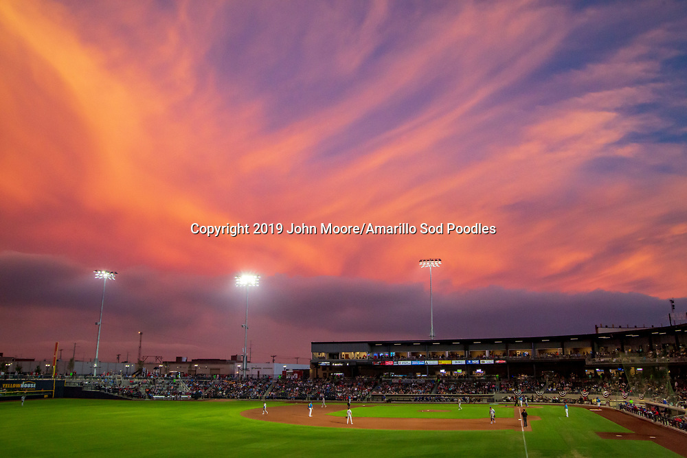 The Amarillo Sod Poodles played against the Midland RockHounds on Friday, May 24, 2019, at HODGETOWN in Amarillo, Texas. [Photo by John Moore/Amarillo Sod Poodles]