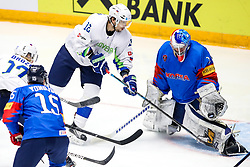 David Rodman of Slovenia vs Matt Dalton of South Korea during ice hockey match between South Korea and Slovenia at IIHF World Championship DIV. I Group A Kazakhstan 2019, on April 30, 2019 in Barys Arena, Nur-Sultan, Kazakhstan. Photo by Matic Klansek Velej / Sportida