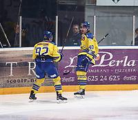Ishockey , Get-Ligaen , semifinale 1 av 7<br /> 20.03.15<br /> Hamar OL- Amfi<br /> Storhamar   v  Sparta 9-3<br /> Foto : Dagfinn Limoseth , Digitalsport<br /> Linus Johansson , Storhamar (40) jubler