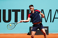 Filip Krajinovic of Serbia in action during his Men's Singles match, round of 64, against Yoshihito Nishioka of Japan on the Mutua Madrid Open 2021, Masters 1000 tennis tournament on May 4, 2021 at La Caja Magica in Madrid, Spain - Photo Oscar J Barroso / Spain ProSportsImages / DPPI / ProSportsImages / DPPI