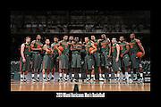 2013 Miami Hurricanes Men's Basketball Team Photo