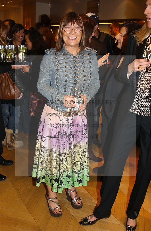 """Fashion writer HILARY ALEXANDER at a book signing hosted by Tod's for Dante Ferretti's new book 'The Art of Production Design"""" held at the Tod's store, 2/3 Old Bond Street, London on 19th April 2005.<br /><br />NON EXCLUSIVE - WORLD RIGHTS"""