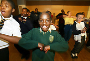 Boys at Eastside Young Leaders Academy, Forest Gate, East London. This controversial figure was the originator of this project, designed to give self esteem and empowerment to young black males. EYLA exists to nurture and develop the leadership potential of young African and Caribbean males, empowering them to become the next generation of successful leaders.