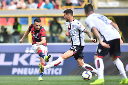 "March 10, 2019 - Bologna, Italia - Foto Massimo Paolone/LaPresse.10 marzo 2019 Bologna, Italia.sport.calcio.Bologna vs Cagliari - Campionato di calcio Serie A TIM 2018/2019 - stadio ""Renato Dall'Ara"".Nella foto: Nicola Sansone (Bologna F.C.) in azione contrastato da Luca Ceppitelli (Cagliari Calcio) ..Photo Massimo Paolone/LaPresse.March 10, 2019 Bologna, Italy.sport.soccer.Bologna vs Cagliari - Italian Football Championship League A TIM 2018/2019 - ""Renato Dall'Ara"" stadium..In the pic: Nicola Sansone (Bologna F.C.) competes for the ball with Luca Ceppitelli  (Credit Image: © Massimo Paolone/Lapresse via ZUMA Press)"