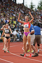 Olympic Trials Eugene 2012: women's 1500 meters, finish, Morgan Uceny